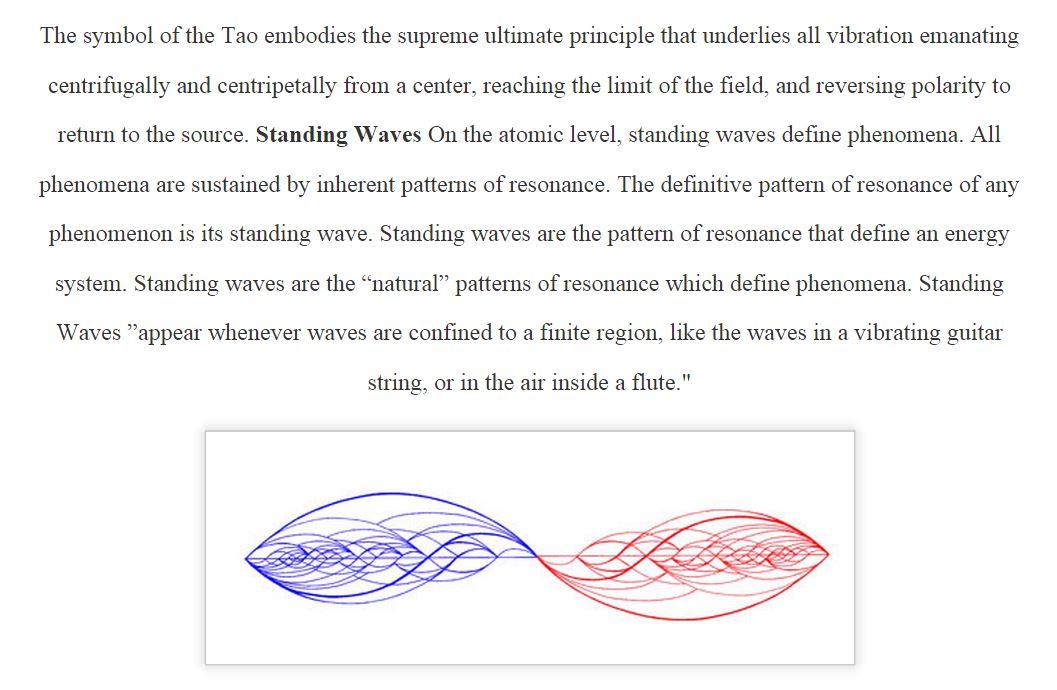 Symbol of Tao Standing Wave