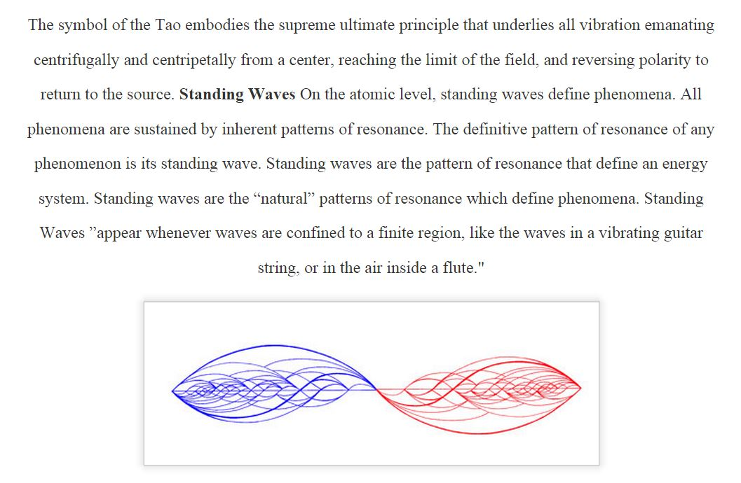 Symbol of Tao Standing Wave